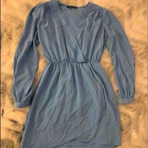 Lulu's Blue Tulip Hem Dress - Honey Punch